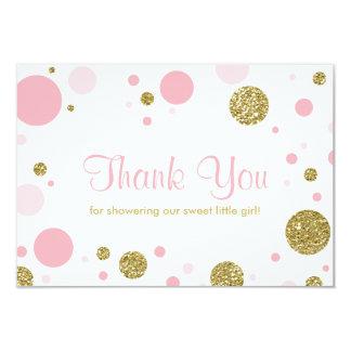Oh bebé, cartões de agradecimentos, brilho do convite 8.89 x 12.7cm