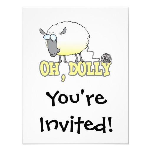 oh carneiros clonados engraçados do fio da zorra convites personalizado