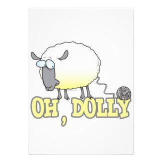 oh carneiros clonados engraçados do fio da zorra convite personalizados