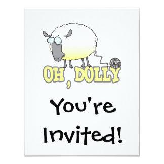 oh carneiros clonados engraçados do fio da zorra convite 10.79 x 13.97cm