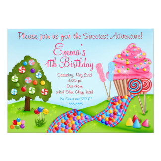 Oh convites doces do cupcake do aniversário da ter