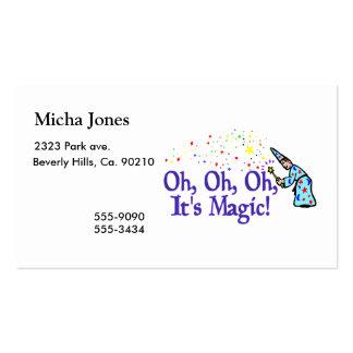 Oh é mágico cartão de visita