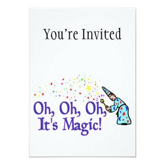 Oh é mágico convite 12.7 x 17.78cm