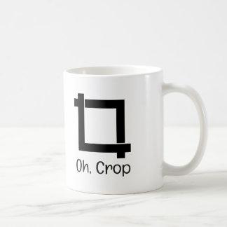 Oh edição engraçada da foto da colheita caneca de café