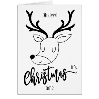 Oh ilustração bonito engraçada do cartão de Natal