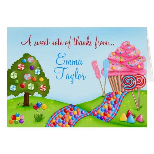 Oh obrigado doce da terra do cupcake dos doces voc cartões