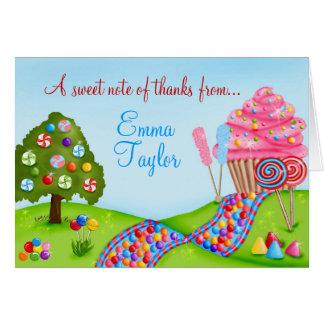 Oh obrigado doce da terra do cupcake dos doces voc cartão de nota
