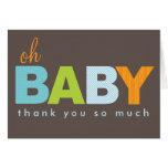 Oh obrigado moderno do bebê do bebé você cartão de