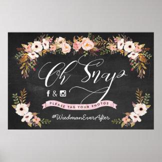 Oh pressão! Poster do casamento de Hashtag