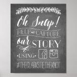 Oh pressão! sinal Wedding de   Hashtag Poster