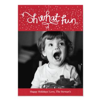 Oh que cartão com fotos do feriado de Scripty do Convite 12.7 X 17.78cm