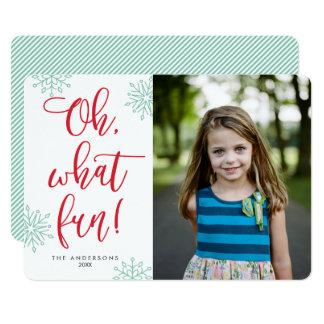 Oh que divertimento! Cartões com fotos do feriado Convite 12.7 X 17.78cm