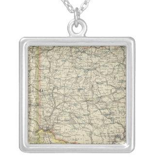 Ohio, Indiana, Kentucky, West Virginia Colar Banhado A Prata