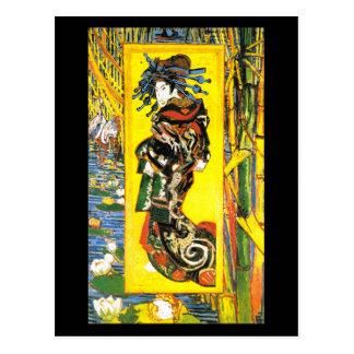 Oiran (após Kesai Eisen). Vincent van Gogh Cartão Postal
