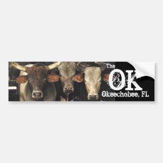 Okechobee Florida a etiqueta das vacas dos gados b Adesivo Para Carro