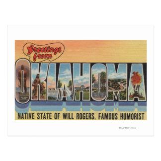 Oklahoma (estado nativo de vontade Rodgers) Cartão Postal