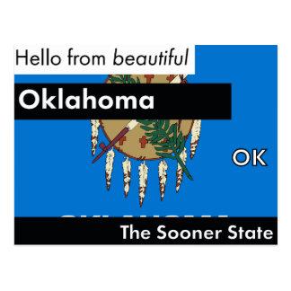 Oklahoma mais logo o estado cartão postal