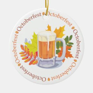Oktoberfest no ornamento redondo