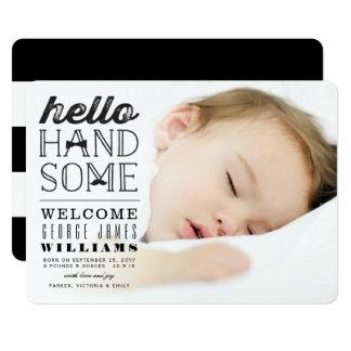 Cartão Olá! anúncio considerável do nascimento da foto do