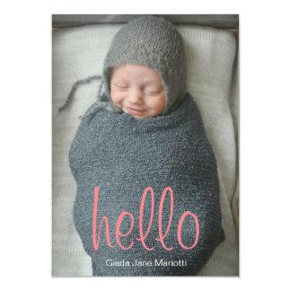 Olá! anúncio do bebê do mundo