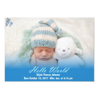 Olá! anúncio do nascimento do bebé do mundo