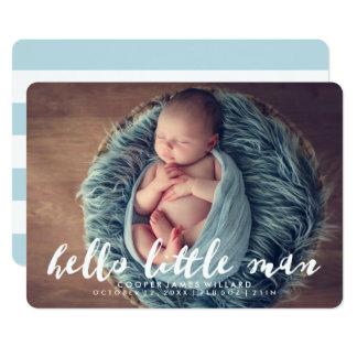 Olá! anúncio pequeno do nascimento da foto do