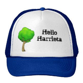 Olá! árvore dos desenhos animados de Harrieta Boné