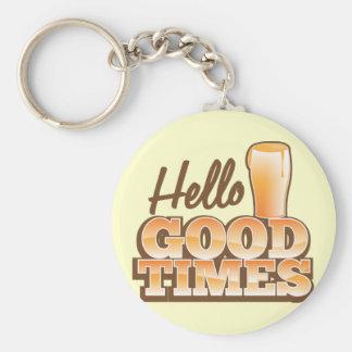 Olá! boas épocas! design da loja da cerveja chaveiro