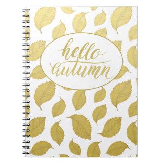 Olá! caderno espiral do roteiro da escova do ouro