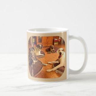 """""""Olá! caneca de café de Zeke, de Zeus, de Owen, e"""