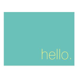 Olá!, cartão