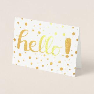 Olá! cartão