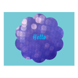 Olá! cartão com flor