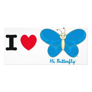 Olá! cartão da cremalheira de Butterfly® 10.16 X 22.86cm Panfleto