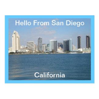 Olá! cartão de San Diego, Califórnia