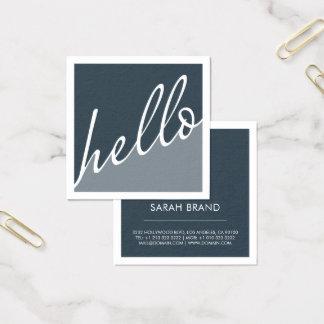 Olá! Cartão De Visitas Quadrado