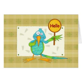 Olá! cartão do colibri