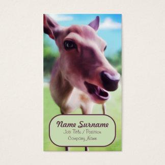 Olá! cervos, molde do cartão de visita