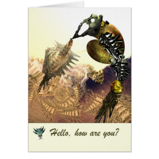 Olá! como é você cartão por Anjo Lafin