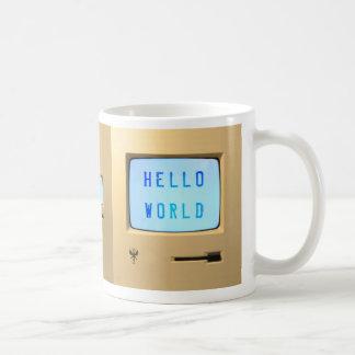 Olá! computador pessoal do mundo caneca de café
