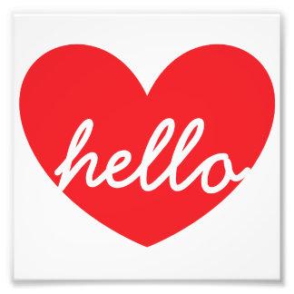 """Olá! coração 6"""" x 6"""" papel da foto de Kodak Impressão De Foto"""