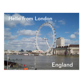 Olá! de Londres Cartão Postal