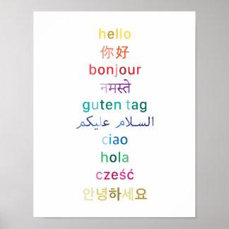 """""""Olá!"""" de todo o mundo - poster 11x14"""
