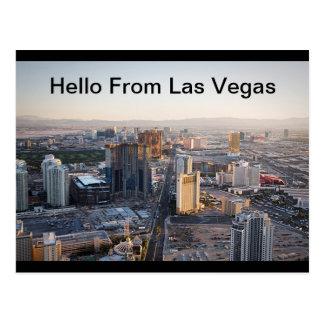 Olá! do cartão da tira de Las Vegas