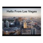 Olá! do cartão da tira de Las Vegas Cartoes Postais