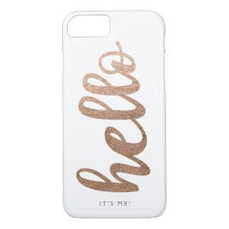 OLÁ! é mim o iPhone 7 do bronze do roteiro da Capa iPhone 7