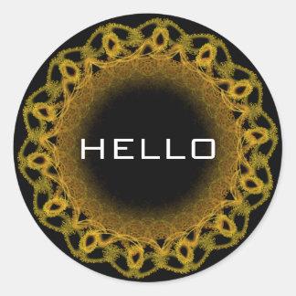 Olá etiqueta do anel do laço do ouro