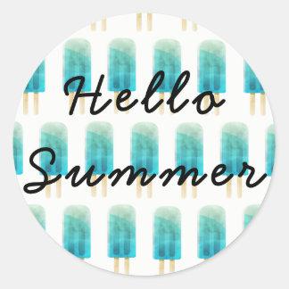 Olá! etiqueta do verão