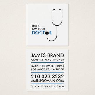 Olá! eu sou seu doutor general médico cartão de visitas quadrado