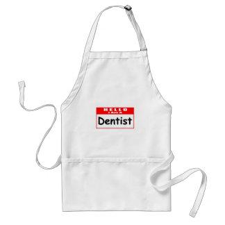 Olá!, eu sou um Nametag do dentista… Avental